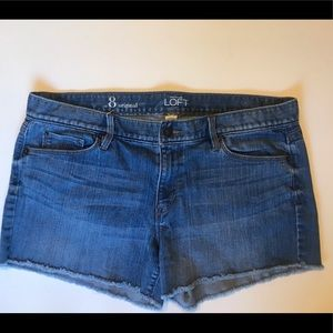 Loft frayed shorts 8